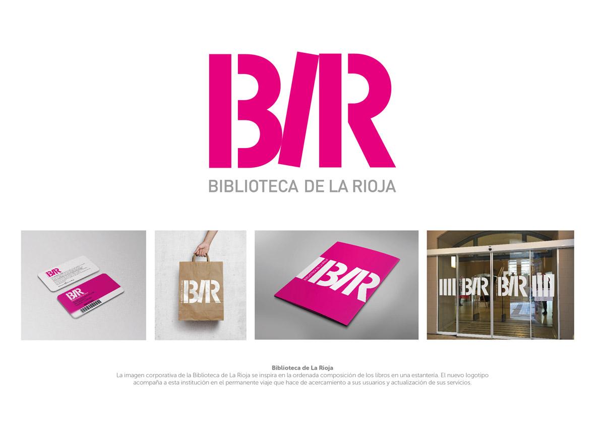Mención Identidad visual Biblioteca de La Rioja y Lles