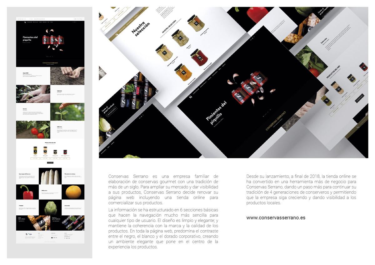 Mención Web: Conservas Serrano y Phics and Graphics